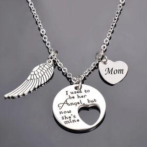 Angel Wing memorial necklace - Mom